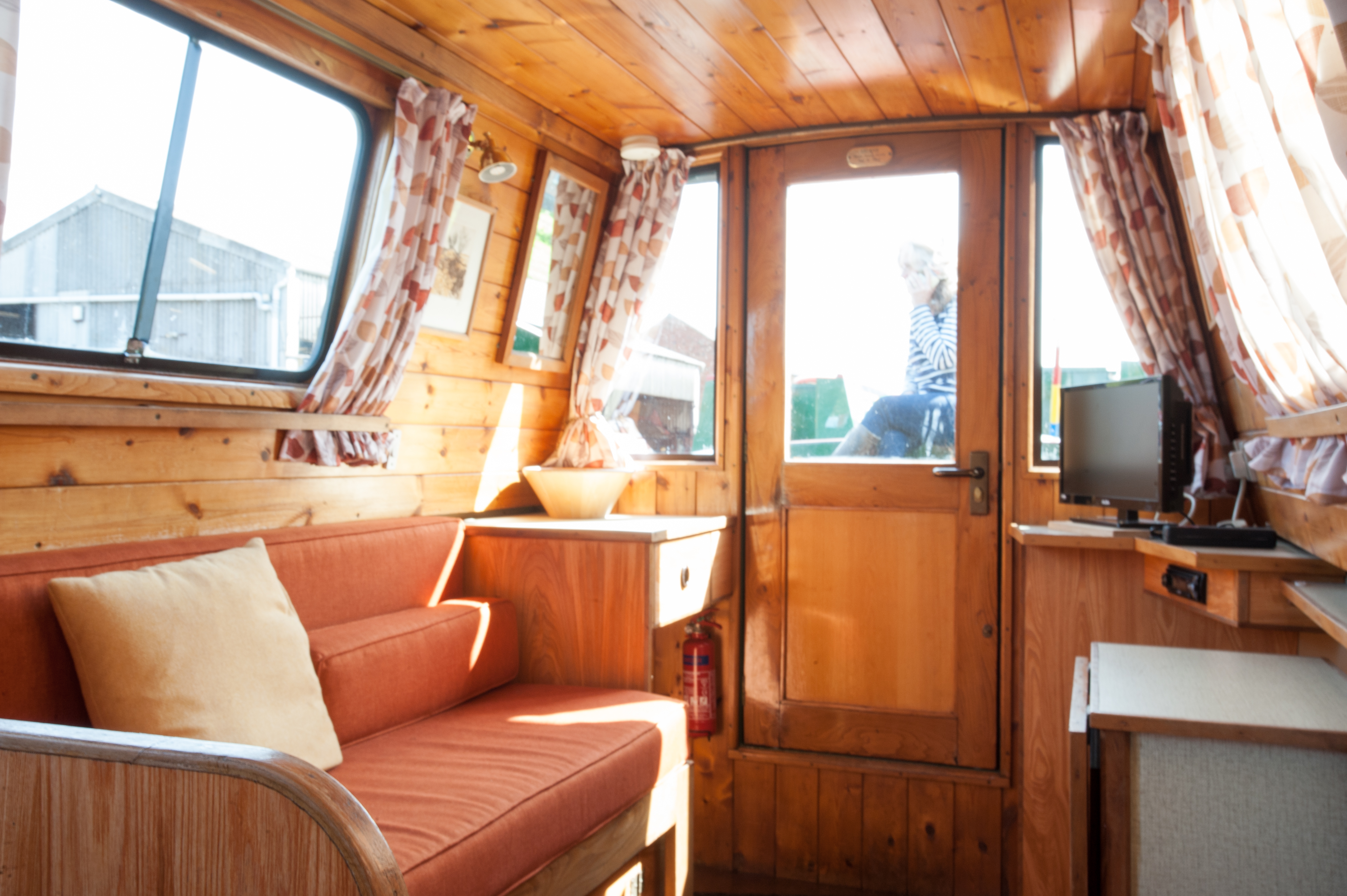 Bright interior of Union Canal Carriers narrowboat 'Selene'